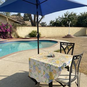 UMBRELLA WITH STAND AND POOL ACCESSORIES for Sale in Bakersfield, CA
