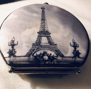 Vintage antique mirror compact of the Eiffel Tower for Sale in Silver Spring, MD