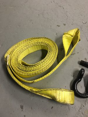 Jeep tow strap & D-ring shackle for Sale for sale  New Rochelle, NY