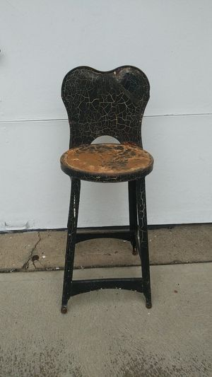 Vintage Small Backed Stool/Chair for Sale in Rocky River, OH