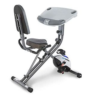 Adjustable fold up exercise Exerpeutic ExerWorKFully Adjustable Desk Folding Exercise Bike with Pulse for Sale in San Anselmo, CA
