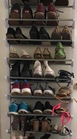Over The Door Or On The Wall Shoe Rack White for Sale in Bellevue,  WA