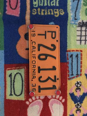 1950s trailer plate for Sale in Hacienda Heights, CA
