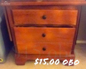 All solid wood 2 drawer dresser for Sale in Cleveland, OH