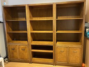 Set of wood bookshelves - $50 for all for Sale in Chicago, IL