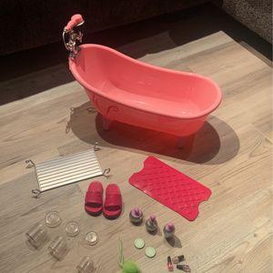 American girl doll bath tub for Sale in Monroe Township, NJ