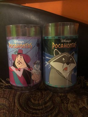 2 Burger King Disney Pocahontas Cups for Sale in Brooklyn, NY