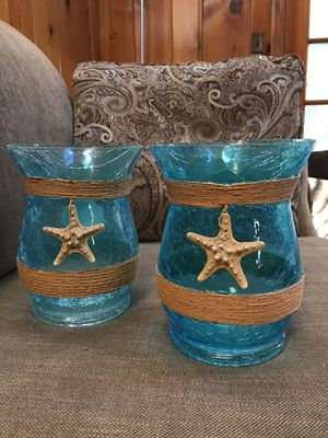 Two decorative glass vases - $30 for Sale in Falls Church, VA