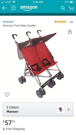 ArmosO twin double umbrella stroller for Sale in Alexandria, VA