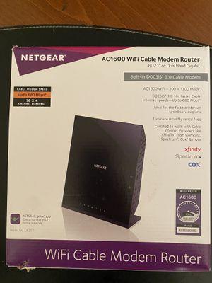 NetGear WiFi cable modem ac1600 for Sale in Marietta, GA