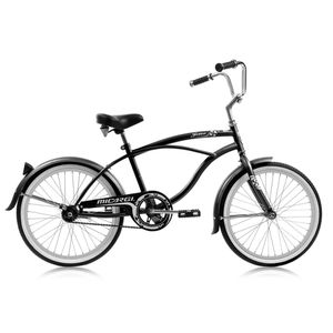 Jetta 20″ Coaster Brake Bike Single Speed Bicycle Stainless Steel Spokes One Piece Crank Alloy Rims Men's Beach Cruiser Black for Sale in Las Vegas, NV