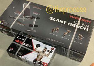 🏋🏽♂️Brand new slant bench with 40lbs adjustable dumbbells 💪🏼 for Sale in San Bernardino, CA