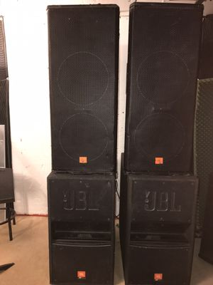 JBL speaker set 2 MRX 500 and 2 Subs MPRO for Sale in Washington, DC