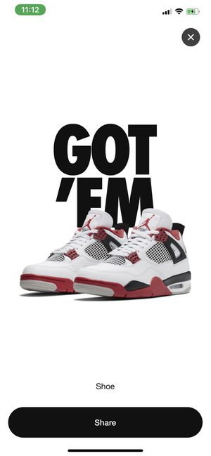 New Jordan retro 4 size 12 red fire for Sale in Streamwood, IL