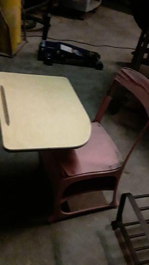 Little kids antique school desk painted mauve needs a little TLC for Sale in Sachse, TX