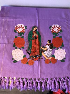 Mexican Rebozo shawl Virgen de Guadalupe $25 this week only for Sale in Los Angeles, CA