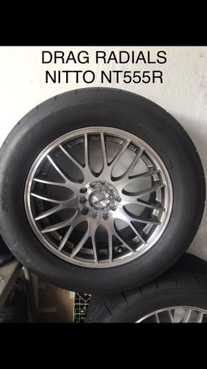 SET of Nitto NT555R Drag Radials and Rims 245/50/16 5x100 5x114 for Sale in Saint Cloud, FL