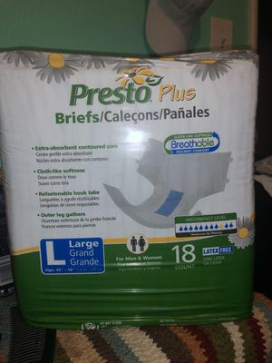4 packs of adult pampers $25 for the box for Sale in Fresno, CA