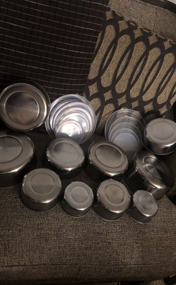 2 set Stainless Steel. Please see all the pictures and read the description