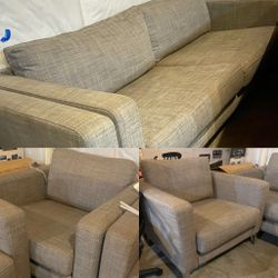 $500 Modern Gray Sofa & 2 Chair Set (Gently Used) for Sale in Pittsburgh,  PA