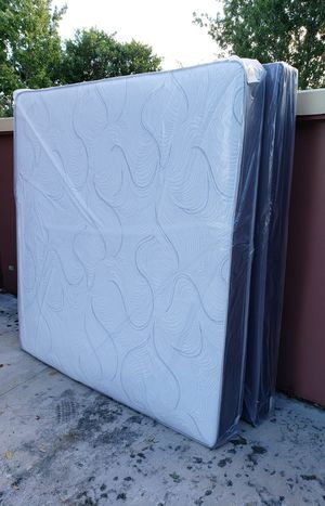 NEW KING MATTRESS AND BOX SPRING SET 3PC. for Sale in Palm Springs, FL