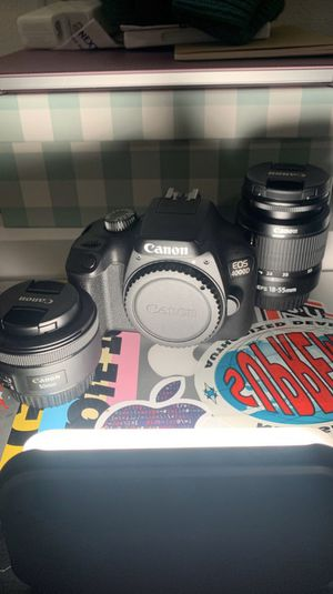 Canon 4000D + 2 Lenses + accessories for Sale in Seattle, WA