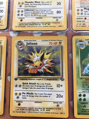 Jolteon first edition holo never left the sleeve for Sale in Pompano Beach, FL