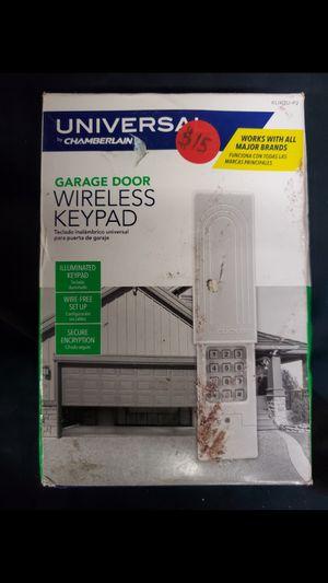 Garage door wireless keypad for Sale in Sanger, CA
