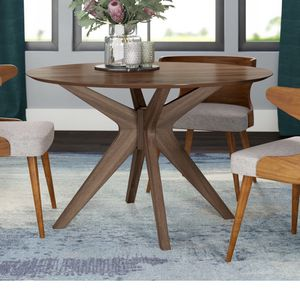 Kohut Round Walnut Brown Dining Table for Sale in Seattle, WA