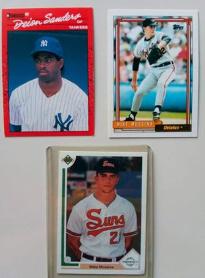 Mike Mussina & Deion Sanders baseball cards for Sale in Alhambra, CA