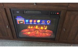 New 🔥 New 🔥 New TV stand with fire place and heater for only 399 for Sale in Highland Park, MI