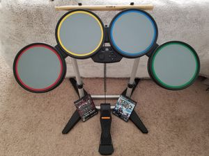 Rock Band PS2 PS3 PS4 Wired Drum Set Model 822148 Drums Tested Complete w/ Games for Sale in Metuchen, NJ