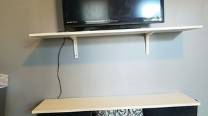 2 white shelves for Sale in Chicago, IL
