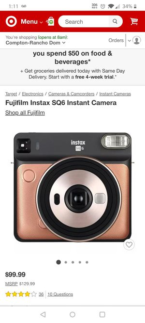 Fujifilm Instax SQ 9 instant film camera brand new for Sale in Paramount, CA