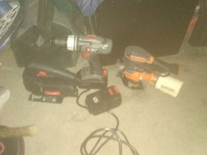 Rigid hand sander-18v Drill Driver and a jigsaw hbf for Sale in Las Vegas, NV