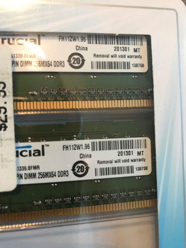 Crucial Memory Brand Premium Desktop Computer Memory