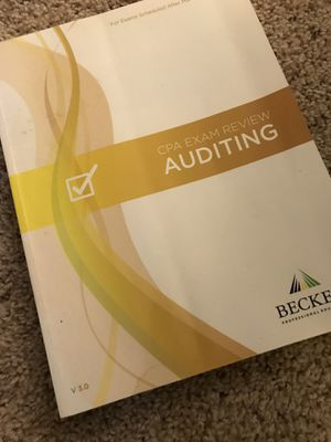 CPA AUD Becker textbook for Sale in Silver Spring, MD