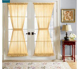 Door curtains missing ties for Sale in Pemberton, NJ