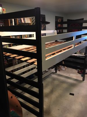 "University Loft twin bed and desk ""bunk bed"" for Sale in Seattle, WA"