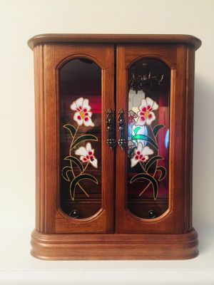Wooden Jewelry Box with Red Velvet Lining for Sale in Crofton, MD