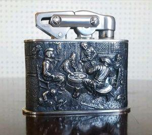 Antique German KW Karl Wieden table cigarette lighter Gambling cards silver for Sale in Alexandria, VA