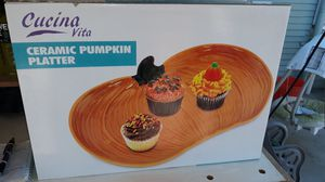 "Cerámic pumkin platter 12"" Brand New in box! for Sale in Fontana, CA"
