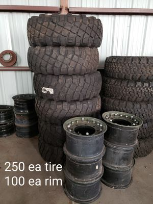 Never used M-RAP tires and rims for Sale in Saint David, AZ