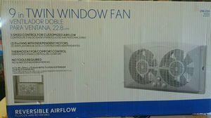 9 in Twin Window Fan for Sale in North Las Vegas, NV