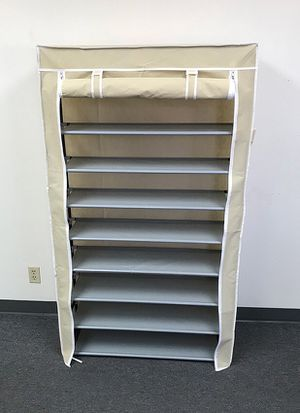 """(NEW) $25 each 10-Tiers 45 Shoe Rack Closet with Fabric Cover Storage Organizer Cabinet 36x12x62"""" for Sale in Whittier, CA"""