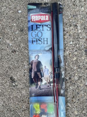 "Rapala Let's Go Fish 5'6""Two piece (Light Action Rod) for Sale in Des Plaines, IL"