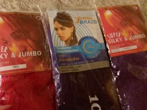 3 pks of NEW braiding hair! (Red & Purple)-- FREE for Sale in Charlotte, NC
