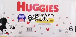Huggies size 6 for Sale in Los Angeles, CA