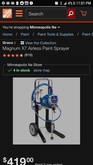 Magnum x7 airless paint sprayer for Sale in Indianapolis, IN