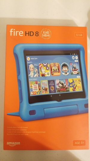 Amazon Fire Tablet HD 8 Kids Addition 32GB Light Blue Case with Stand - Brand New Never Used for Sale in New York, NY